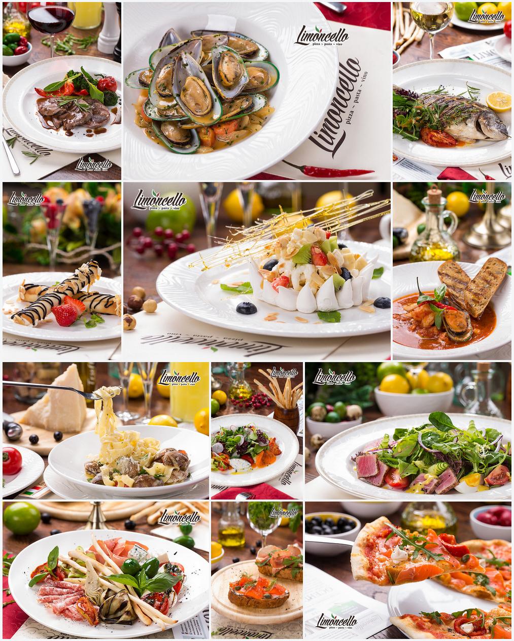 Фотографии меню для ресторана итальянской кухни Limoncello (Владивосток)