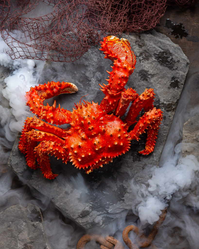 Фотосъемка морепродуктов | Колючий краб (Paralithodes brevipes