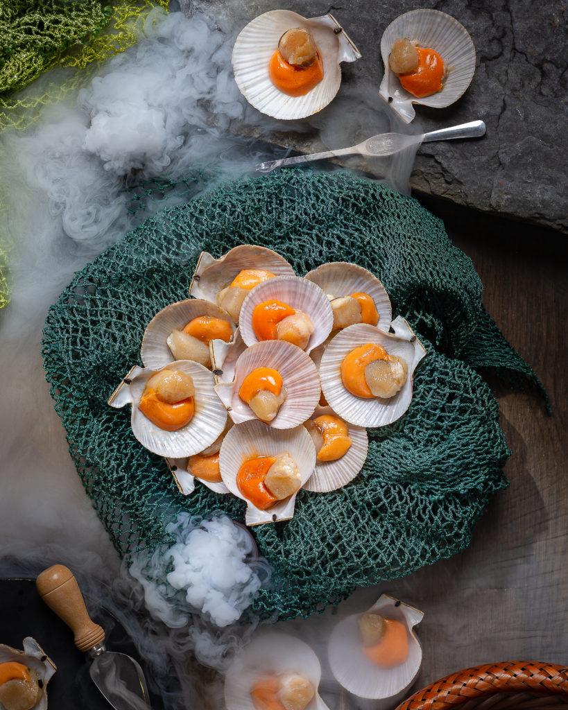 Chlamys Albidus | Гребешок светлый | Фуд-фотография морепродуктов