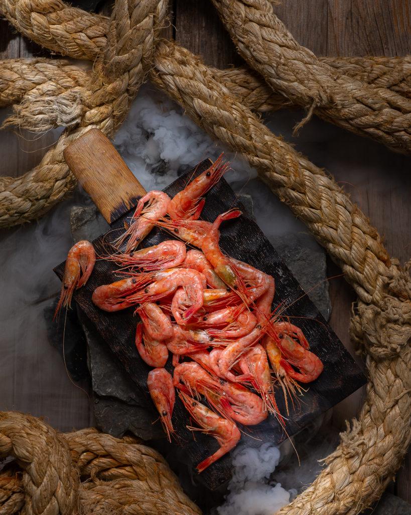 Морепродукты | Северная креветка | Фуд-фотография