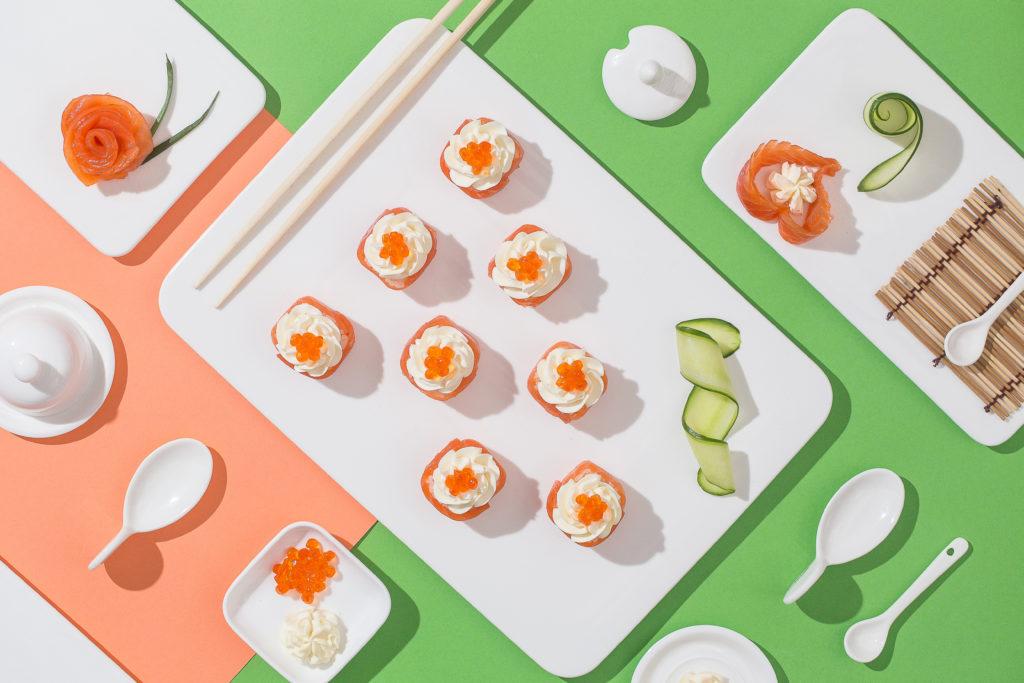 Фотосъемка роллов и суши для сервиса доставки