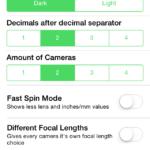 Программа для подсчета ГРИП. Simple DoF Calculator.