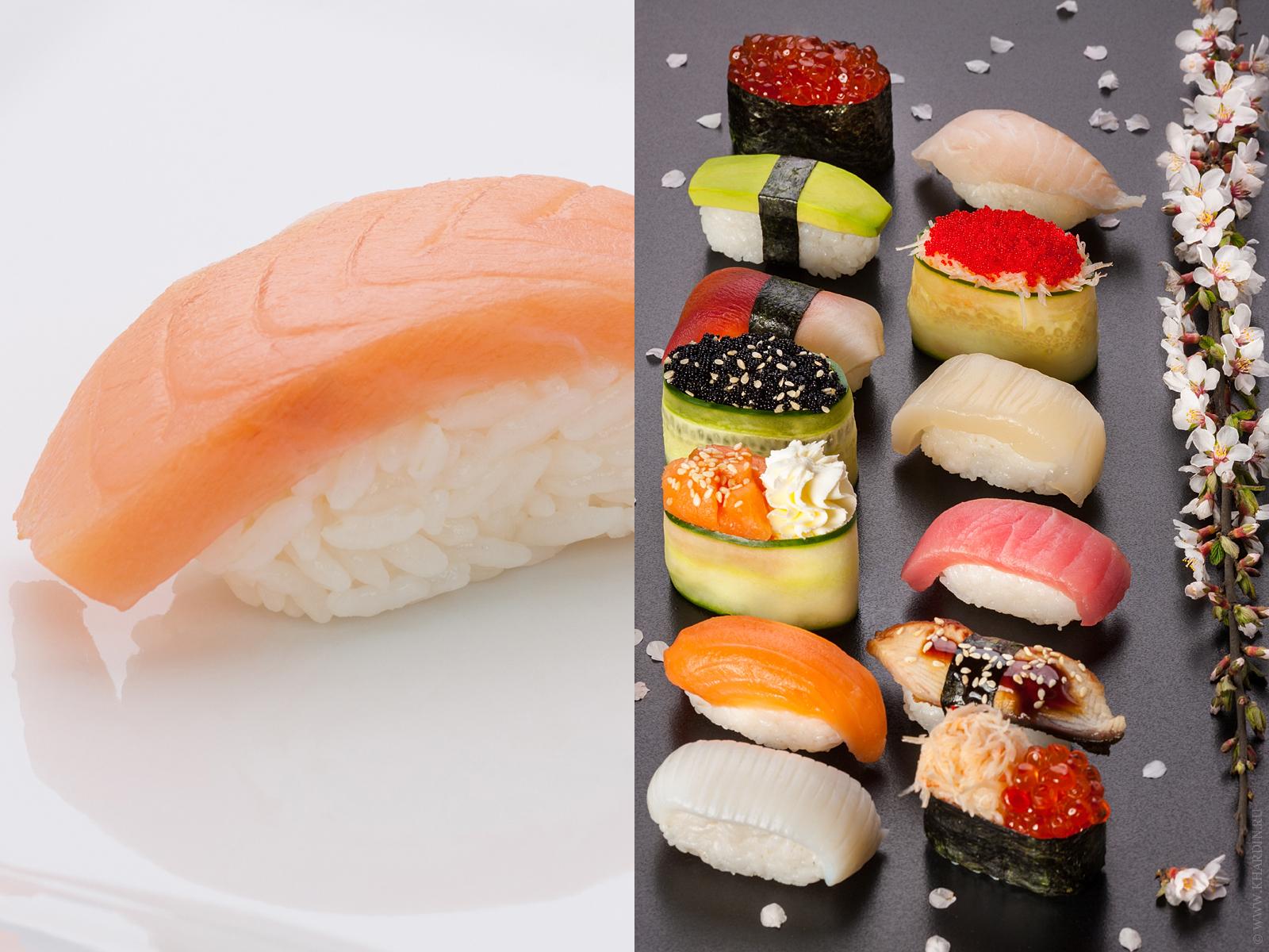 Фотосъемка суши и сашими